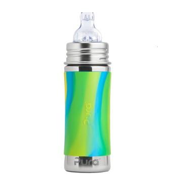 Edelstahl Trinklernflasche ab 6 Monate bis 99 Jahre grün blau
