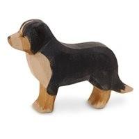 Berner Sennenhund Holzfigur stehend 7 cm hoch