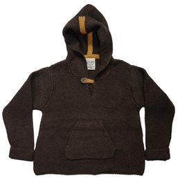 Wolle Biobaumwolle Pullover braun