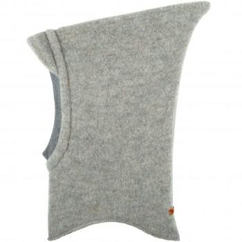 Warme Schlüpfmütze mit Schirm in grau