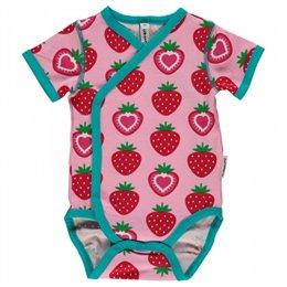Erdbeere Bio Wickelbody Sommer