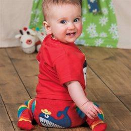 Bio Kinderstrumpfhose von frugi Regenbogen Farben