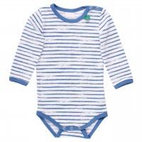 Sommerlicher Body langarm Streifen blau