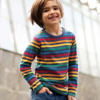 Griffiges Shirt langarm Regenbogendesigne
