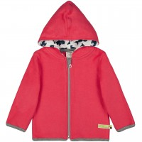 Warme Kapuzenjacke Fleece orange