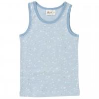 Mädchen Unterhemd Sternschnuppen hellblau