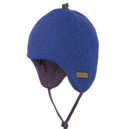 Öko Baby Übergang- und Wintermütze - blau