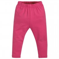 Elastische Leggings in pink uni
