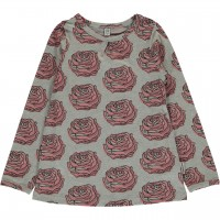 Langarmshirt A-Schnitt rosa Rosen