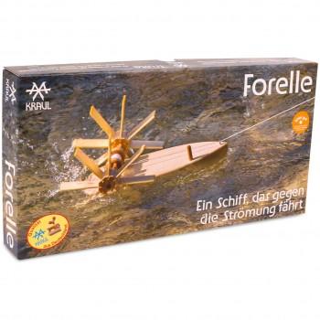 Forelle – Schiffbausatz flussaufwärts