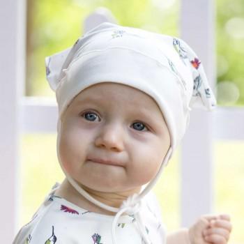 Baby Kopftuch mit elastischem Stirnband Kolibri
