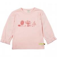 Rippshirt langarm rosa mit Bäumen