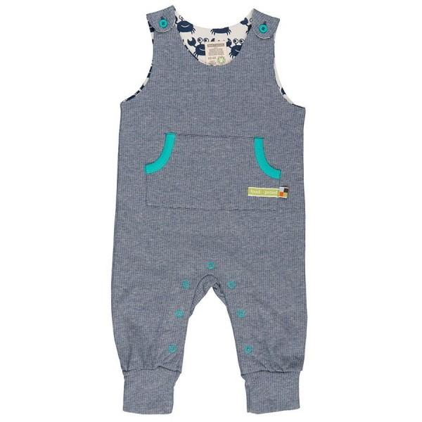 Warmer Babystrampler kühle Tage marine