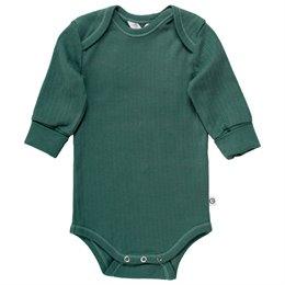 Wolle Seide Body mitwachsend pastell-grün