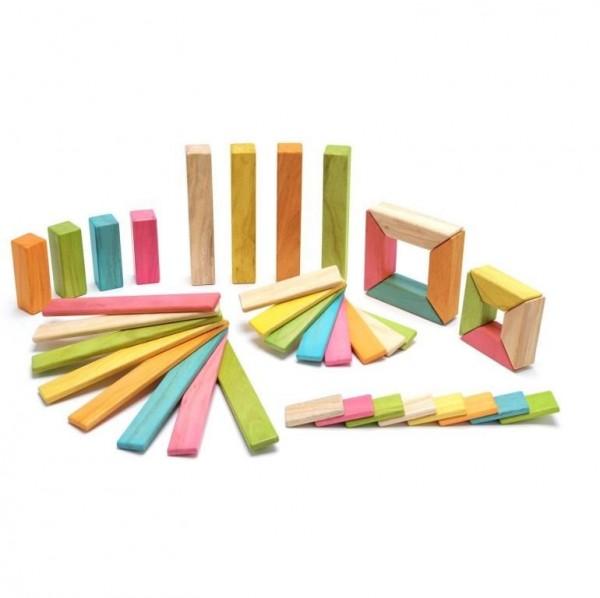 Magnet-Holzbauklötze- Explorer-Set Tints 40-teilig