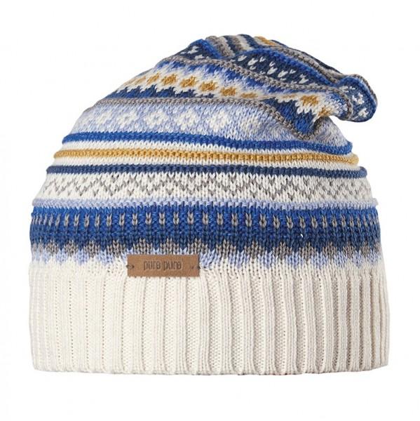 Warme Strickmütze - Mix aus Wolle, Seide & Biobaumwolle