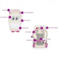 Vorschau: Bio Kinder Rucksack mit Augen-Reflektoren rosa