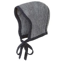 Baby Mütze Merinowolle atmungsaktiv dunkelgrau
