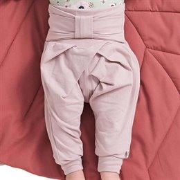 Edle Schleifen Krabbelhose pastell-rosa