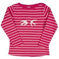 Bio Schlafanzug Mädchen pink gestreift