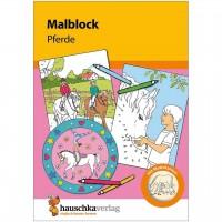 Malblock für Kinder ab 3 Jahre Pferde