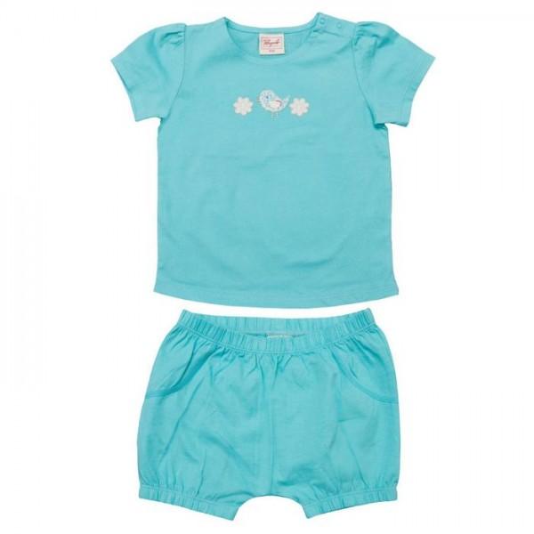 Süsses Baby SET aus Shirt und Babyshorts aus Biobauwolle