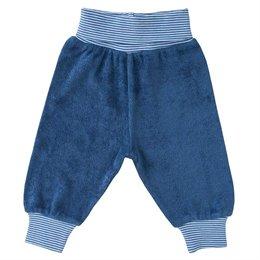 Babyhose Frottee blau Bündchen
