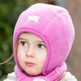 Wende Wintermütze mit Band rosa