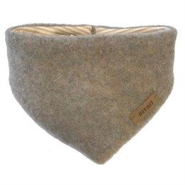 Dickes Wolle Halstuch mit Druckknopf beige