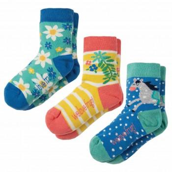 Kinder Mädchen Bio Socken 3er Pack Pferd