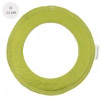 Grosser super weicher Wurfring LOOP Frisbee distel-grün
