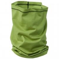Schlauchschal 2in1 Unisex Wolle Seide grün