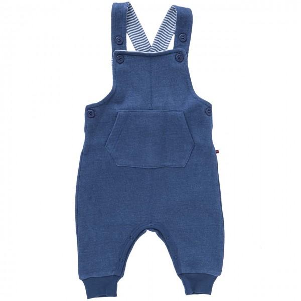Leichte Sweat Latzhose jeansblau