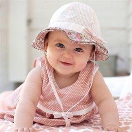 Mädchen Sommermütze mitwachsend verstellbar retro