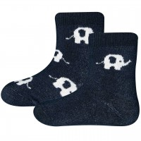 Baby Thermo Socken 2er Pack Elefanten navy