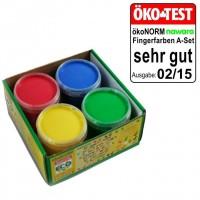 Vorschau: ökoNorm Fingerfarben 4er Set A