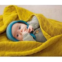 Vorschau: Leichte Babydecke Wolle Bio 80x100 cm grün
