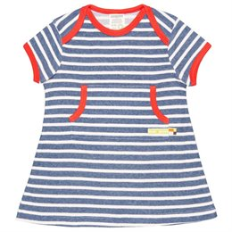 Robustes leichtes Kleid Streifen marine