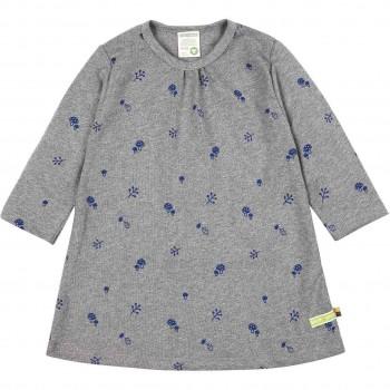 Kleid langarm Waldtiermotiv grau