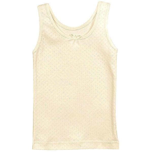 Bio Unterhemd ungefärbt ohne Arm für Mädchen