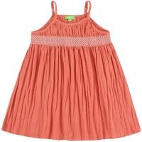 Sommer Kleid Musselin Spaghettiträger rosa