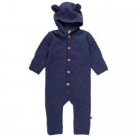 Softer Woll Fleece Overall mit Teddyohren-Kapuze