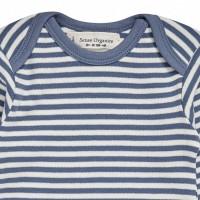 Vorschau: Bio Babybody griffig weich blau gestreift