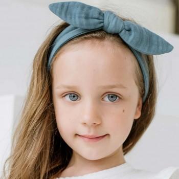 Musselin Haarband blau