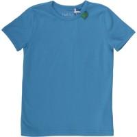 Bio T-Shirt mit Druckknöpfen - blau
