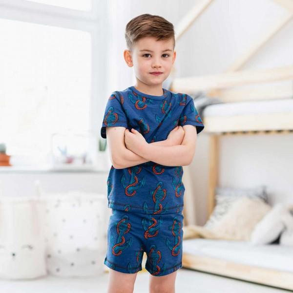 Sommer Pyjama Anker dunkelblau