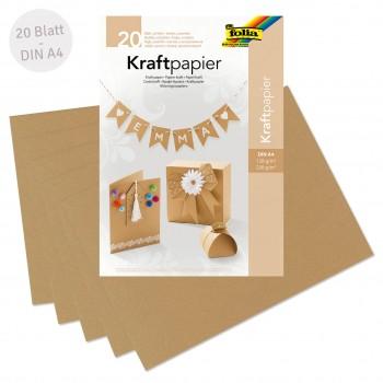Kraftpapier und Kraftkarton Set DIN A4 20 Blatt
