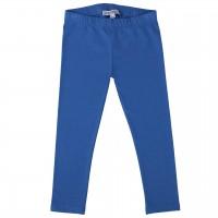 Elastische blaue Uni Basic Leggings