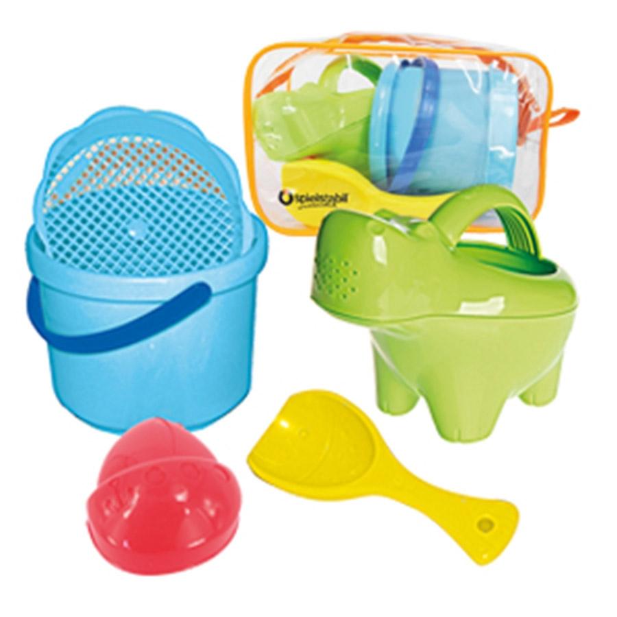 baby sandspielzeug set hippo mit praktischer tasche. Black Bedroom Furniture Sets. Home Design Ideas