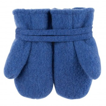 Woll Fleece Baby Fäustel nautic-blau